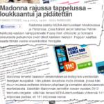 Madonna piestiin henkihieveriin Nazisin taistelussa